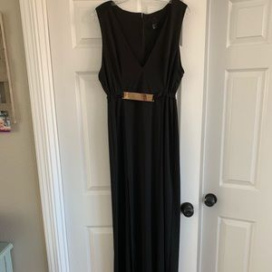 Elegant H&M Black Midi Dress